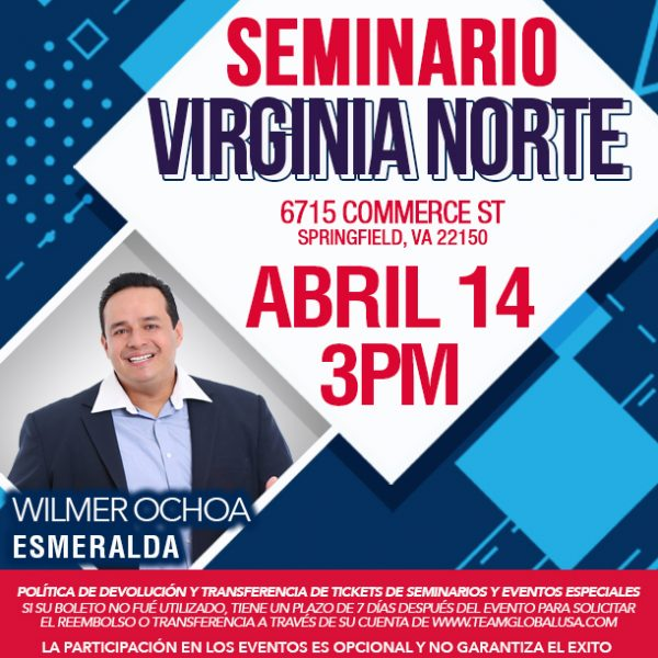Seminario Abril 2019 – Virginia del Norte